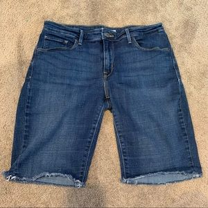 Levi's Mid Rise Skinny Jean Denim Shorts